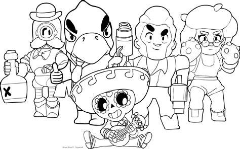 disegni di brawl da colorare bibi disegno di personaggi di brawl da colorare