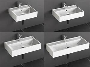 Waschbecken 70 Cm : keramik waschtisch waschbecken aufsatzwaschtisch wei 50 60 70 90 cm ebay ~ Indierocktalk.com Haus und Dekorationen