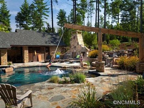 pool european inspired home in asheville n c patio