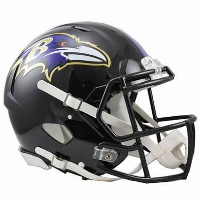 Ravens Baltimore Helmet Football Speed Riddell Authentic
