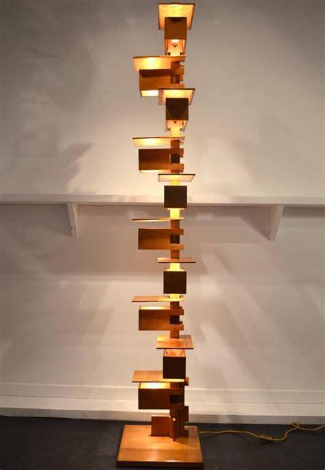 Fantastic Taliesin Frank Lloyd Wright Wood Floor Lamp At
