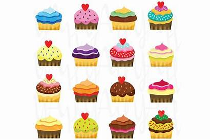 Clipart Cupcake Cupcakes Clip Object Colorful Muffins