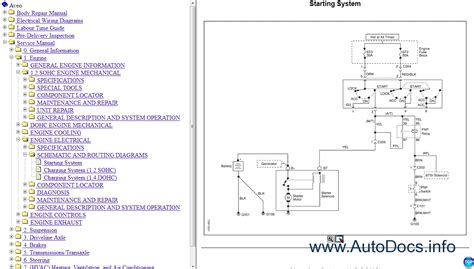 service and repair manuals 2006 pontiac daewoo kalos navigation system chevrolet kalos aveo service manual 2006 2008 repair manual order download