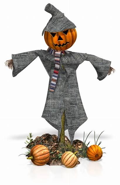Fall Happy Scarecrow Pumpkins