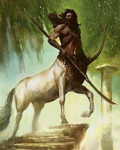 Art by Vance Kovacs - Centaur sentinel with a hunter's bow ...