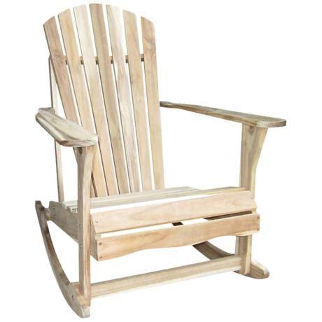 adirondack unfinished acacia wood rocker chair 4f652
