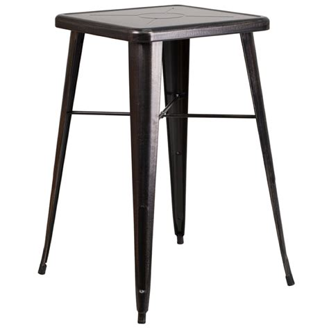 counter height square folding table 24 quot square top tolix cafe bar table cafe tables chairs