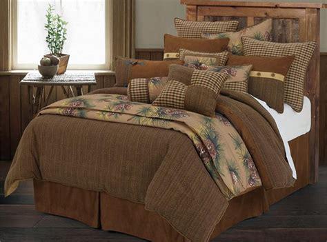 rustic king size comforter sets crestwood pine cone rustic comforter set king