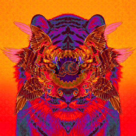 Trippy Animal Wallpaper - trippy animals fuckyeahtrippyimages tiger power animal