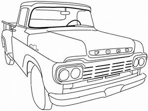 pickup truck coloring pages bestofcoloringcom With 1960 ford crew cab