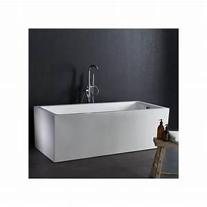 Baignoire Ilot Pas Cher : baignoire rectangulaire ilot design pas cher planetebain ~ Premium-room.com Idées de Décoration