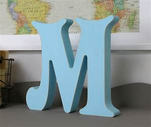 Free standing wooden alphabet letters victorian by lightfilled for Free standing letters