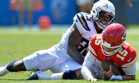 loss chargers derwin james shines  regular