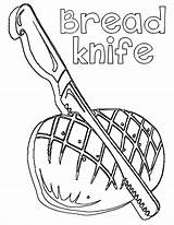 Coloring Knife sketch template