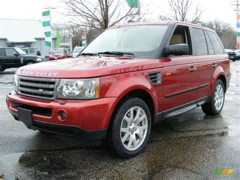 red land rover 2007 rimini red metallic land rover range rover sport hse