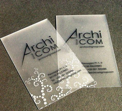 creative translucent business cards yvelle design eye