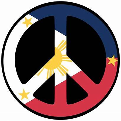 Peace Philippines Flag Symbol Philippine Sign Drawing