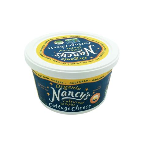 organic cottage cheese nancy s organic cultured low 1 cottage cheese from