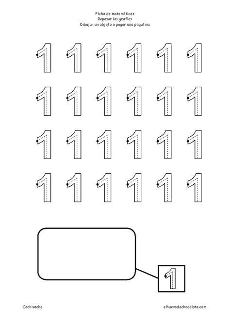 Número 1 Fichas de números Imprime y repasa el número