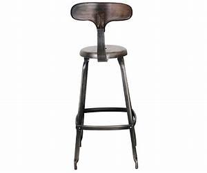 Tabouret De Bar Industriel Pas Cher : tabouret haut metal industriel table et meuble maison ~ Teatrodelosmanantiales.com Idées de Décoration