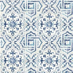 Chesapeake 56.4 sq. ft. Sonoma Blue Spanish Tile Wallpaper