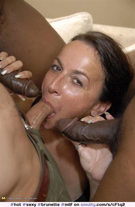 Hot Sexy Brunette Milf Mature Mmmf Interracial Bbc Bigblackcock Foursome Groupsex