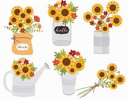 Fall Clipart Flowers Autumn Sunflowers Flower Sunflower