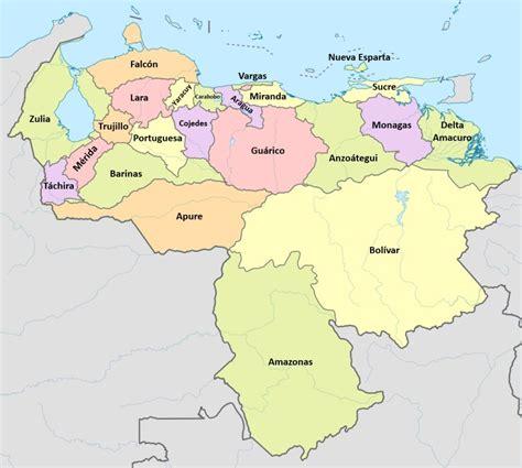 cuantos estados tiene venezuela listado  mapa saber es practico