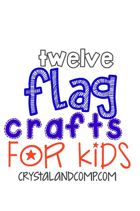 fourth  july crafts  flag crafts