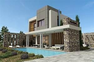 Modern stylish latest homes exterior designs Cyprus