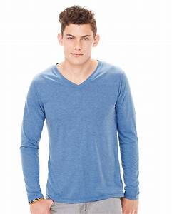 Canvas Long Sleeve V Neck T Shirt