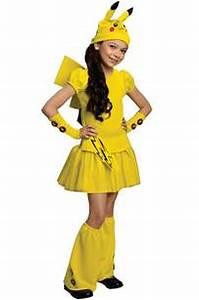 pokemon girl pikachu child costume