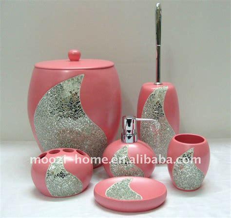 pink rhinestone bathroom accessories pink bath accessories sets beautiful pink decoration