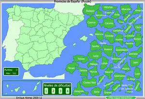 Mapa interactivo de España Provincias de España Puzzle normal Enrique Alonso Mapas
