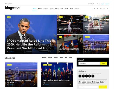 News Website Html Templates Free Premium Themes