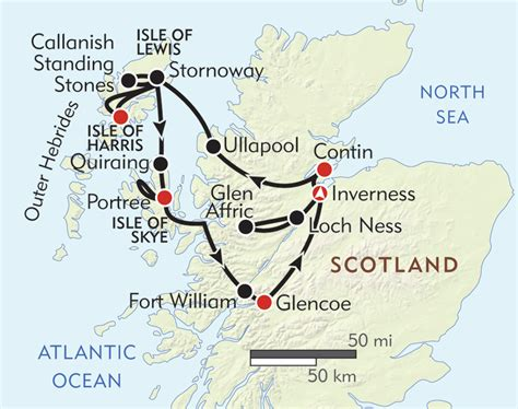 Highlands and Islands of Scotland - Itinerary & Map