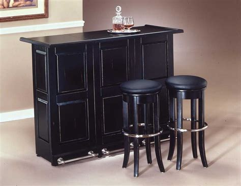 Black Home Bar Furniture by Home Styles Swing Open Folding Bar Black 88 5695 99 At