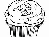 Muffin Coloring Blueberry Pages Drawing Getcolorings Printable Cupcake Clipartmag sketch template