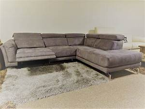 natuzzi editions fabric electric reclining r h sofa With natuzzi fabric sectional sofa