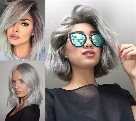 Dare Try Ice Cold Silver Bob Hairstyles Hairdrome.com