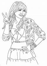 Celebrity Hannah Montana Coloring Pages Printable Books Q2 sketch template