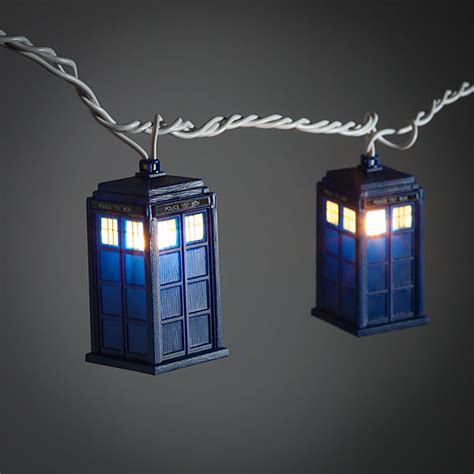 doctor who tardis string lights thinkgeek