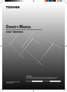 Toshiba Crt Television 19a25 User Guide