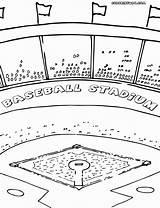 Baseball Field Coloring Printable Diamond Getcolorings Template sketch template
