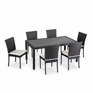 Chaise Exterieur Design : table chaise exterieur table de jardin en bois maisonjoffrois ~ Teatrodelosmanantiales.com Idées de Décoration