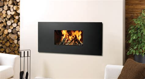 Riva Contemporary Wood Burning   Stovax Open Convector Fires