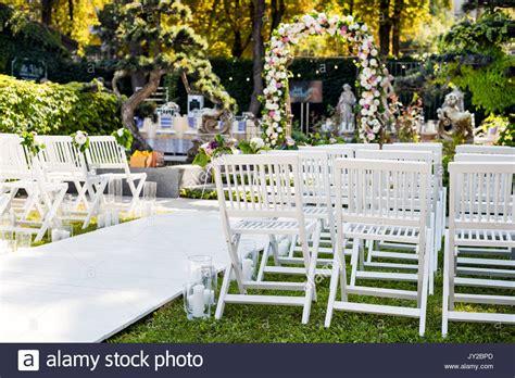 Garten Trauung by Hochzeit Bogen Mit Blumen Im Freien Sch 246 Ne Hochzeit