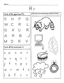 5 Letter R Worksheets  Alphabet & Phonics Worksheets  Letter Of The Week