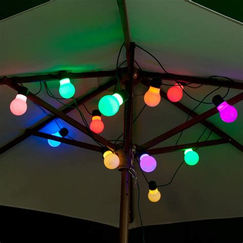 colourful outdoors with colour changing outdoor lights