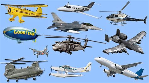 Learning Air Vehicles Names & Sounds For Kids Learn Airplanes, Jets, Helicopter